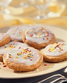 Gingerbread with coloured sugar sprinkles