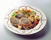 Oxtongue with vegetables