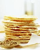 Poppadams (Indian lentil flour flatbreads)