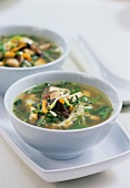 Bouillon with tofu and vegetables