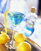 Dream Cocktail (Blue Curacao, vodka and lemon juice)