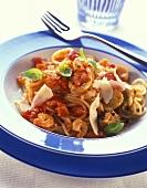 Pasta alla Porto Venere (Pasta with seafood & tomatoes)