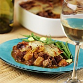 Pork ragout with potato topping