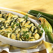Potato and courgette bake