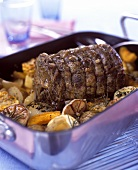Rolled lamb roast