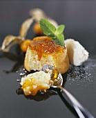 Semolina souffle with kumquat jam