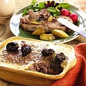 Pig's liver pate with prunes