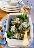 Malfatti gratinati (Spinach and ricotta dumplings au gratin)