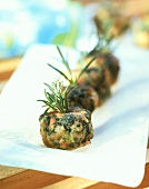 Courgette and shrimp balls with herbs