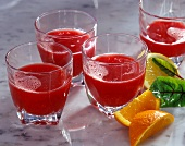 Vegetable juice with beetroot and carrots
