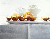 Baked potatoes with sesame, sunflower seeds, salt & quark