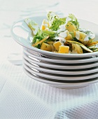 Potato and apple salad with celery and sour cream
