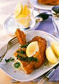 Cordon Bleu chicken with spinach & gorgonzola stuffing