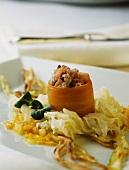 Matjes tartare in carrot ring