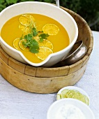 Carrot and lime soup