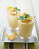 Orange and sea buckthorn shake with zwieback (rusk)