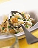 Risotto alla scorzonera (Scorzonera and pea risotto)