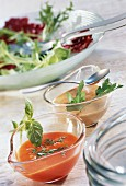 Tomato dressing and balsamic dressing