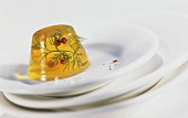 Shrimp jelly with dill and red pepper
