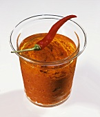 Harissa (hot spice paste with peppers and chilis)