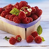 Raspberries in punnet