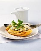 Crostini with artichoke mousse