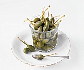 Giant capers in jar