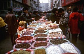 Nuts and dried fruit at a Chinese street market
