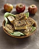 Apple and poppyseed slice