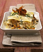 Lasagne with sauerkraut and mushrooms