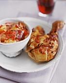 Harissa-Hähnchen mit scharfem Kartoffel-Gemüse-Salat