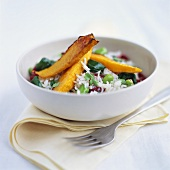 Vegetable rice with sweet potatoes