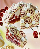 Dome cake with cherries