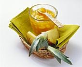Pineapple and mango preserve