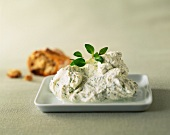 Soft cheese spread with herbs
