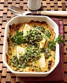 Fischfilet mit Kräuterkruste aus dem Ofen