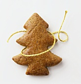 Fir tree biscuits in gingerbread dough