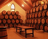 Wine laid down in hall at Chapel Hill Winery, McLaren Valley