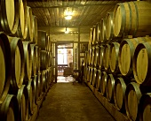 Wine cellar at Muratie Winery, Stellenbosch, S. Africa