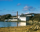 The well-known Lagavulin whisky distillery, Islay, Scotland