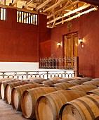Fine wine cellar of Luis Felipe Edwards Winery, Chile