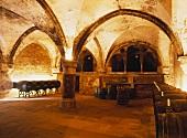 Der Weinkeller im Kloster Eberbach, Hattenheim, Deutschland