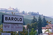 Name board of Barolo in Piemonte, Italy