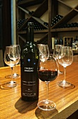 Red wine from Chateau Romanin Estate, Provence, France