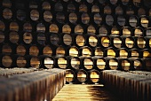 Moscato barrels stored in J.P. Vinhos wine cellar, Portugal