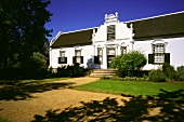 Main house of Boschendal Winery, Stellenbosch, S. Africa