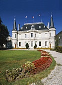 Famous Chateau Palmer in Medoc wine-growing region, Bordeaux
