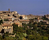 Montalcino, the famous Tuscan wine town, Italy