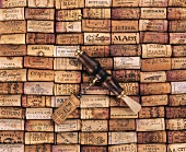 Various wine corks and corkscrews