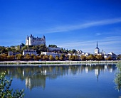 Château de Saumur above the town and the Loire, France